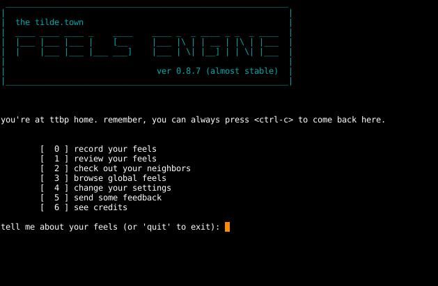 ttbp main menu screenshot